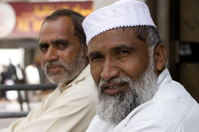 Portrait of two men on street in Deira.