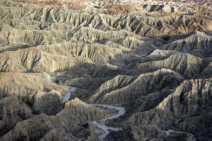 River cutting through the Borrego Badlands, from Font's Point.