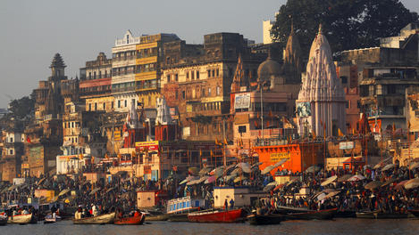Varanasi main ghat, River Ganges