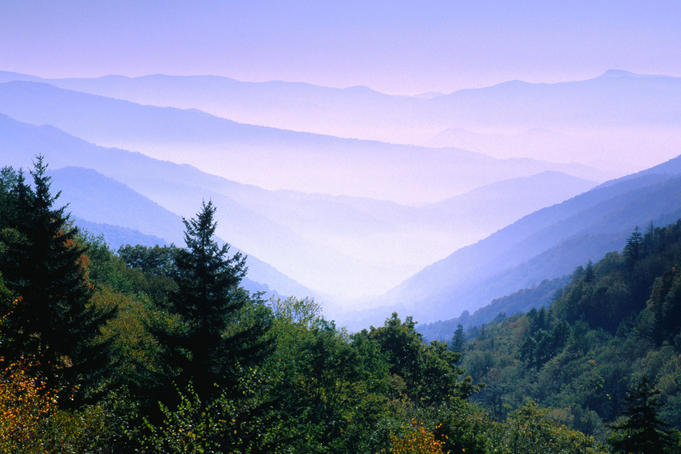 The Great Smoky Mountains National Park.