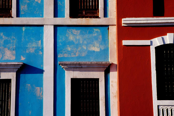 Building facades, Old San Juan.