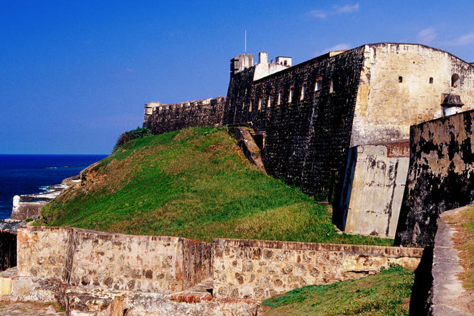 San Cristobal Fort & city walls.
