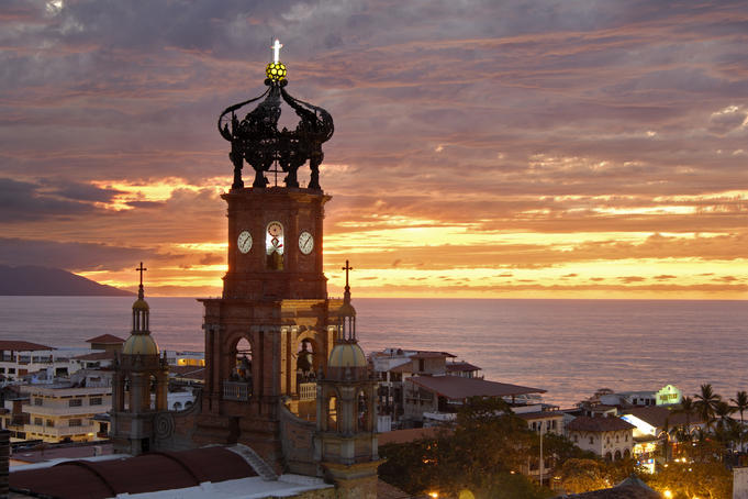 Church above the main square&lt; Puerto Vallarta