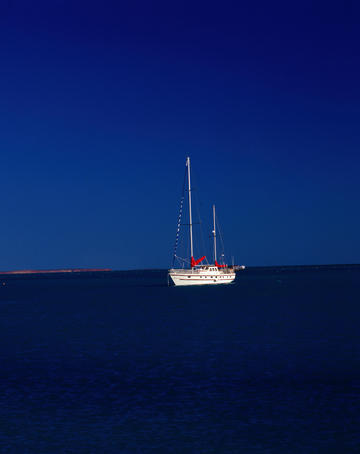 A yacht near Shark Bay - Monkey Mia, Western Australia