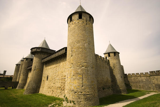 The 12th-century Chateau Comtal, La Cite.