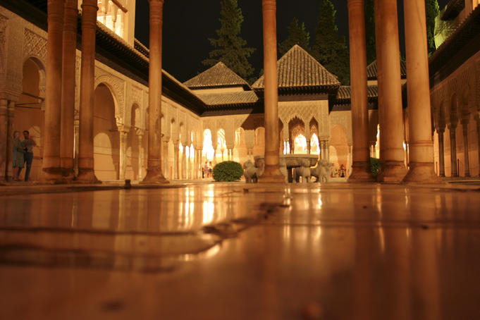 Patio of the Lions, on main plaza of the Alhambra.
