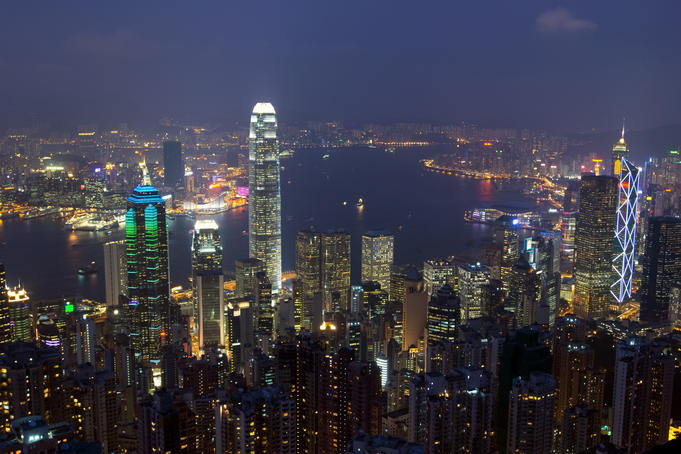 Hong Kong from the Peak.