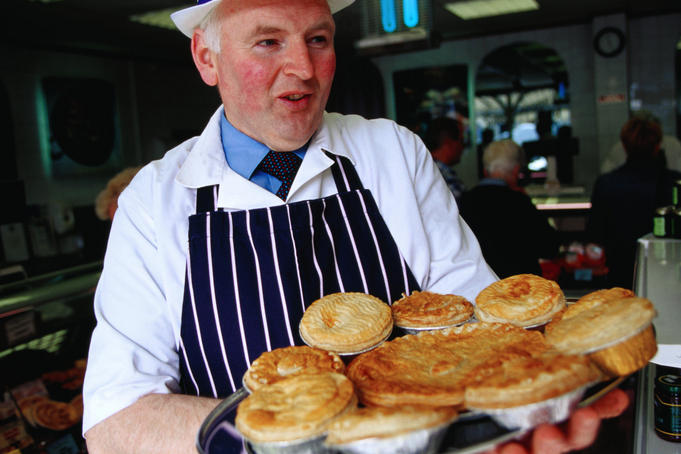 George McCartney with his pies - Moira, Down, Northern Ireland