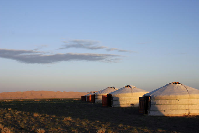 Ger Camp at Khongoryn Els, the Singing Dunes.