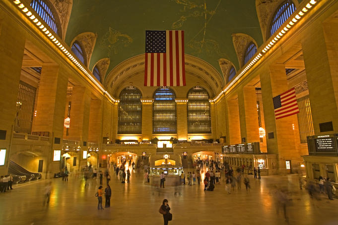 Interior of Grand Central station, Midtown Manhattan.