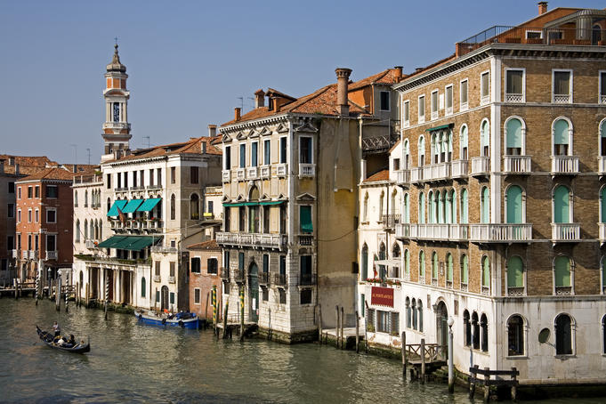 Grand Canal from Rialto Bridge.