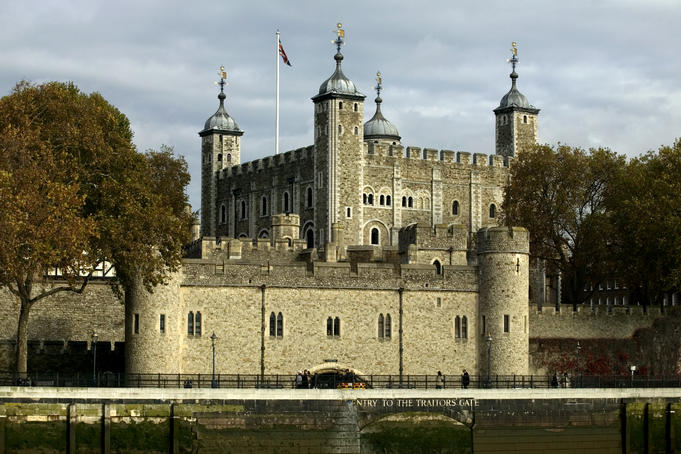 Tower of London from River Thames.