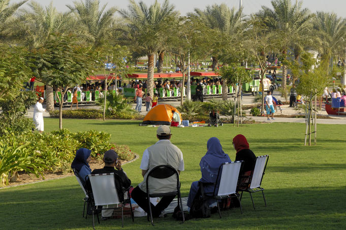 Family at Za'abeel Park.