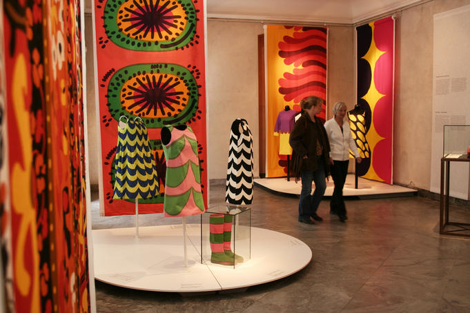 Textile exhibit at the Kunstindustrimuseet.