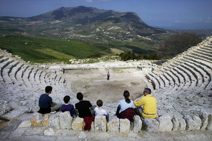 Greek amphitheatre.