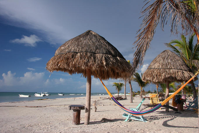 Beach on Isla Holbox.