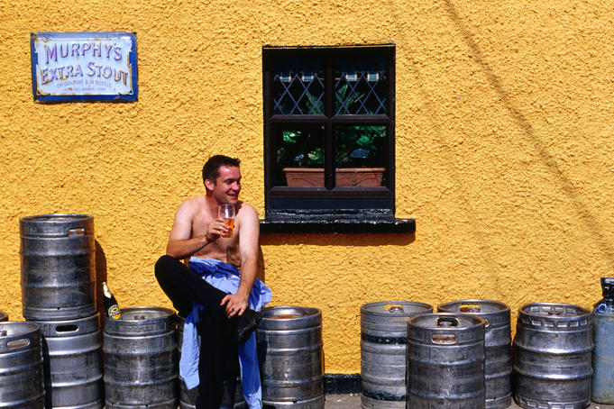 A hard earned thirst needs a big cold beer - Shanagarry, County Cork
