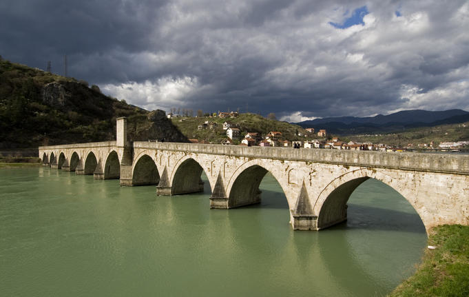 Mehmed Pasa Sokolovic Bridge over the Drina River.