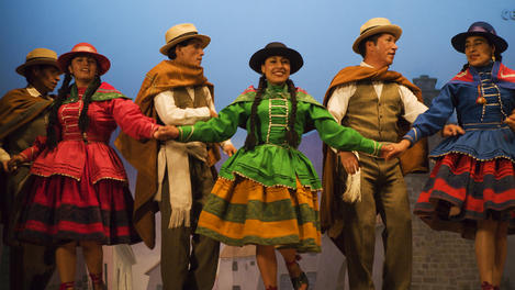 Folk dancers, Cuzco