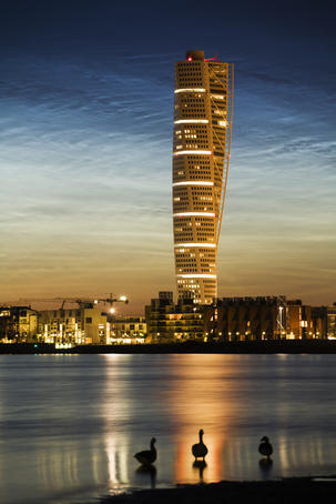Turning Torso apartment building in West Harbour.