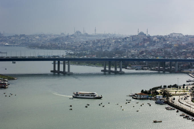 Bridge over Bosphorus in Western district.