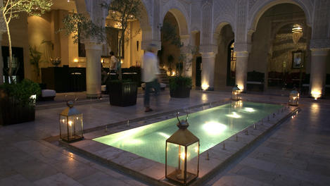 Swimming pool at Riad Fez