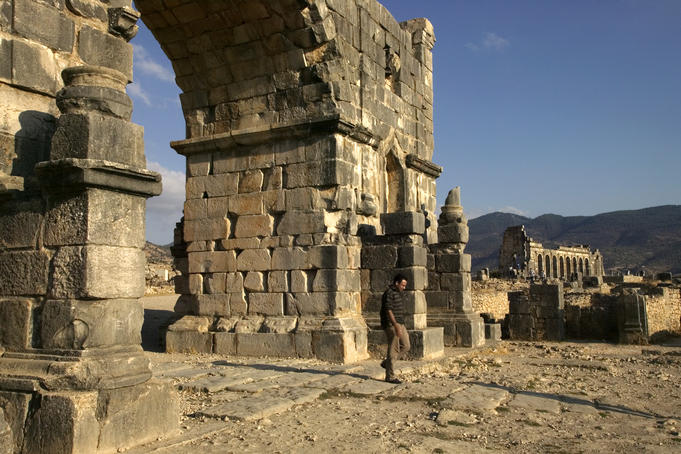 Remains of the Roman city Volubilis