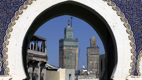 Bab Bou Jeloud and minarets, Fs