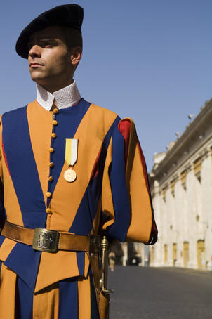 Swiss Guard, St Peter's Basilica.