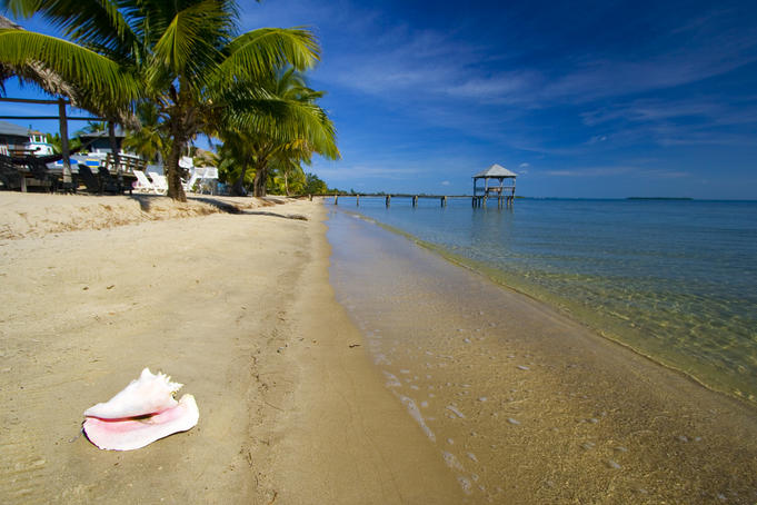 Nautical Inn Beach at Seine Bight, Belize.
