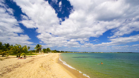 Placencia's sandy beach, Placencia