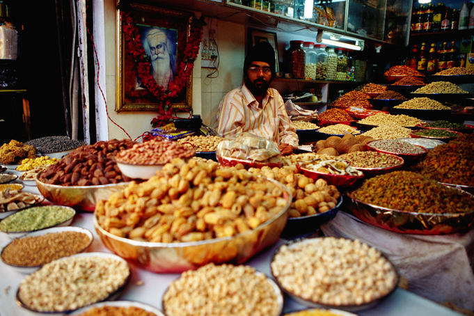 Shopkeeper on Chandni Chowk, Old Delhi.