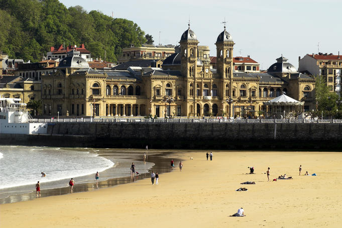 Old Casino on Bahia La Concha, Donostia - San Sebastian (Basque Country).