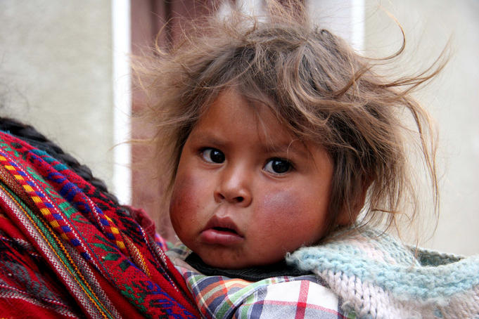 Portrait of Bolivian child.