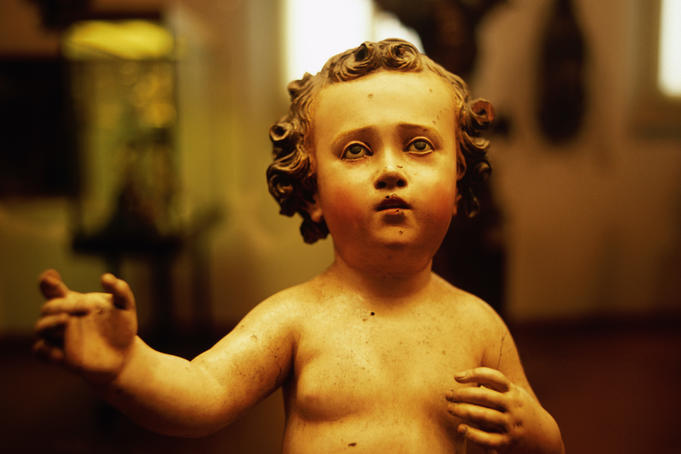 Statue of Baby Jesus by Francisco Salzillo, 1750-1770, Museo Fredric Mares.