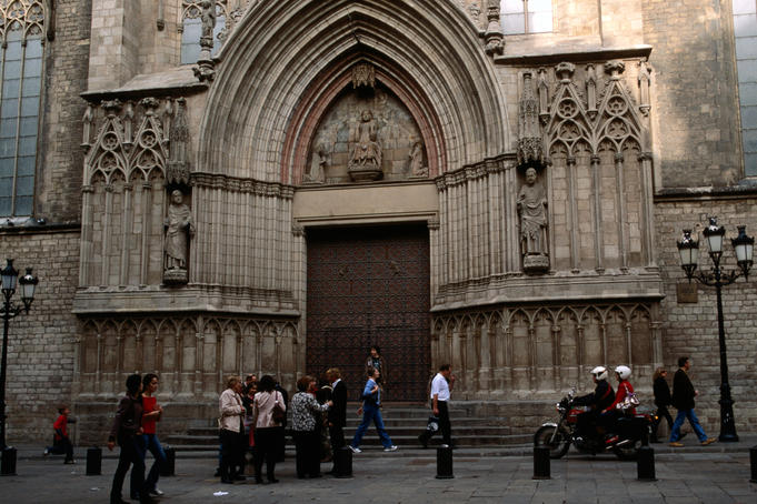 Entrance to Santa Maria del Mar Church.