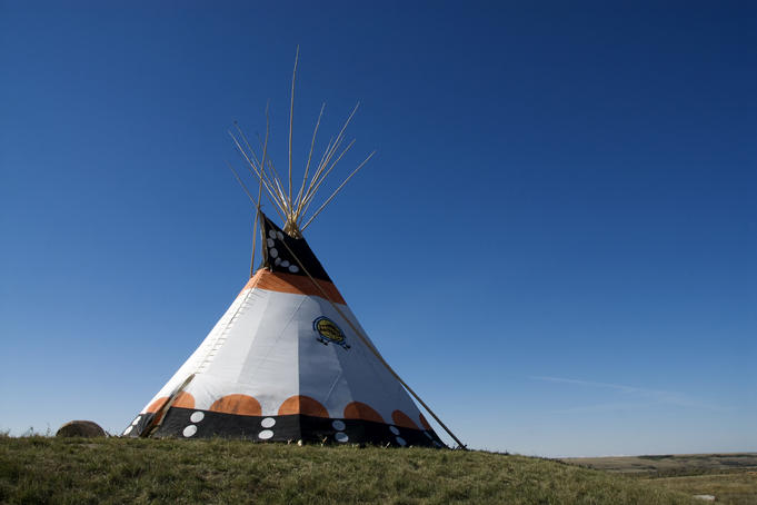 Tepee at Blackfoot Crossing Historical Park Interpretive Centre, Siksika Nation.