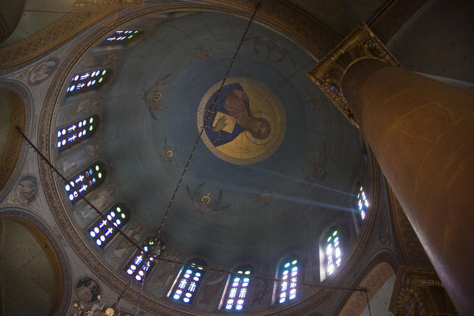 Domed interior, Coptic Cairo.