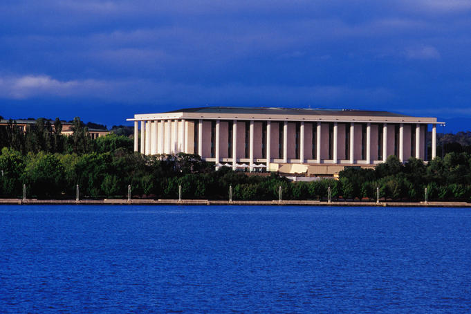 National Library of Australia & Lake Burley Griffin.