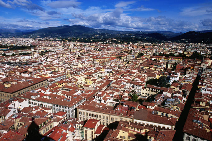 Cityscape from Giotto's Campanile.