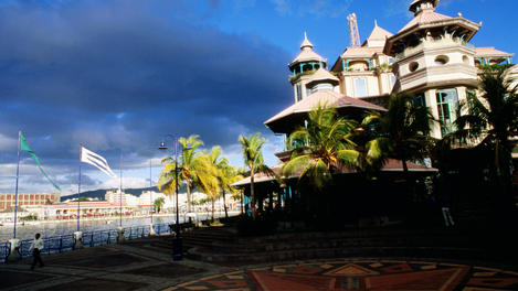 Caudan waterfront of Port Louis, Mauritius