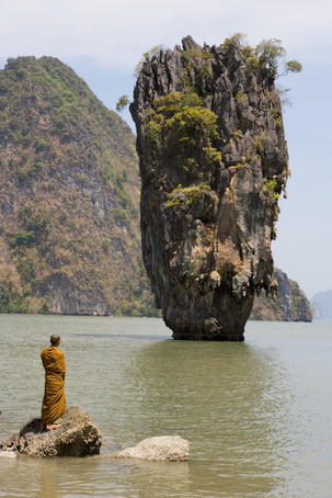 Thai Monk at Ko Phing Kan (James Bond Island).