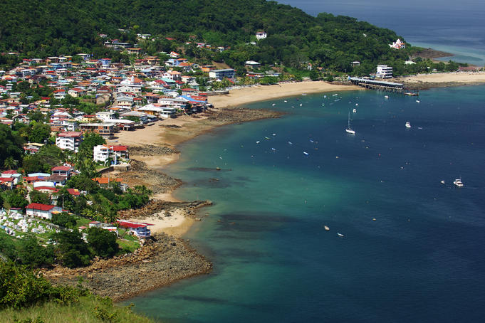 Village of Taboga on Taboga Island coast.