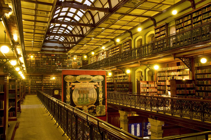 Interior of the Mortlock Library, State Library of South Australia.