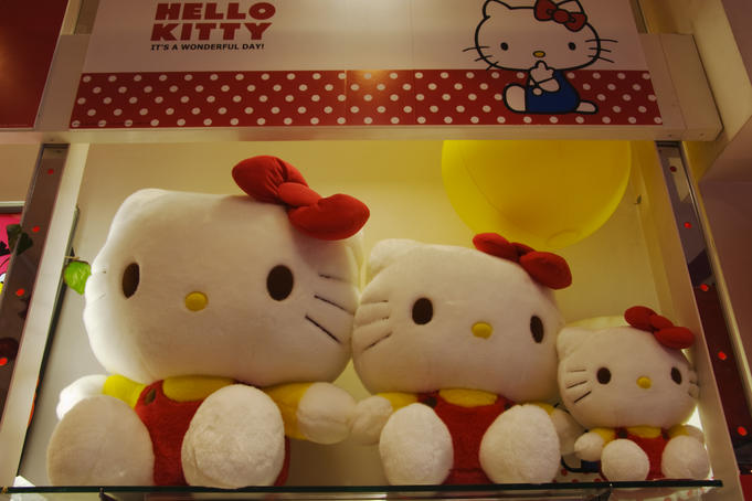 Hello Kitty dolls in Kiddyland, Jingumae.