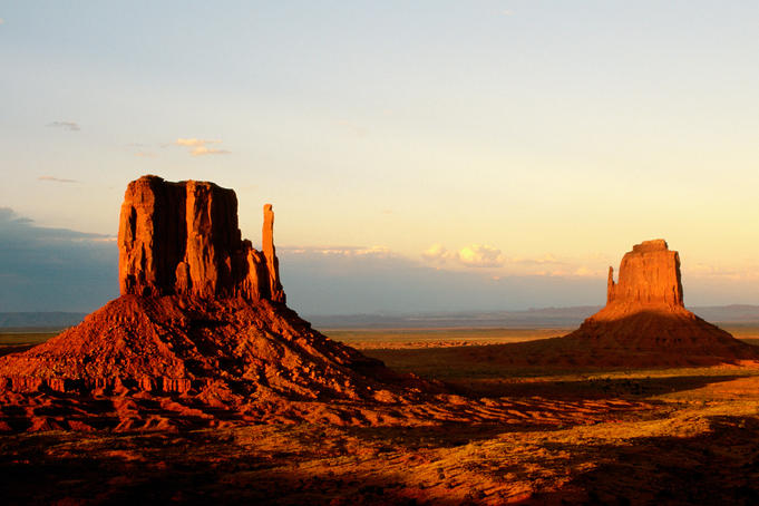 Monument Valley in late afternoon.