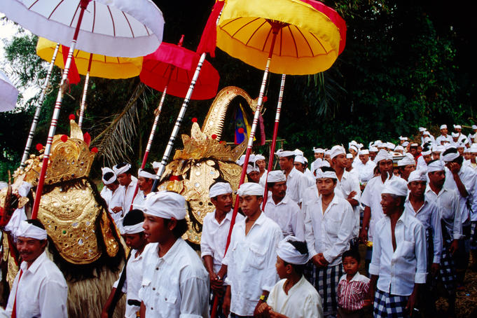 Barong procession and ceremony.
