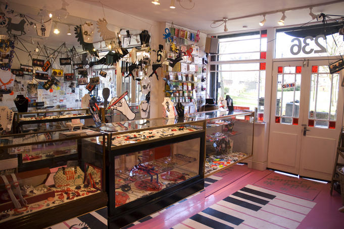 Interior of Tatty Devine.