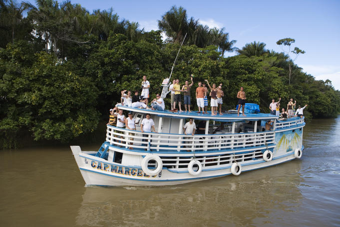 River boat excursion on Rio Tapajos.