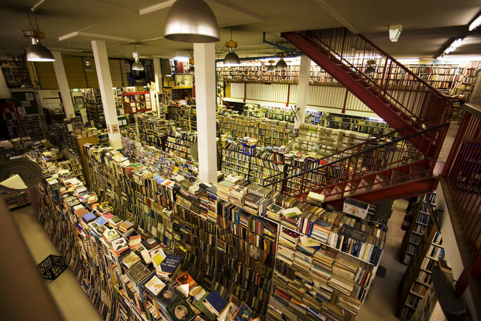 Millions of titles on offer at Gould's Book Arcade on King Street, Newtown.